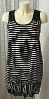 Платье женское модное полосатое хлопок Holly Bracken р.44 6301