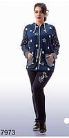 Трикотажный спортивный костюм женский (р. 50-56) арт. 7973