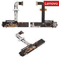 Шлейф для Lenovo K900, коннектора зарядки, микрофона, с компонентами, с звонком, оригинал