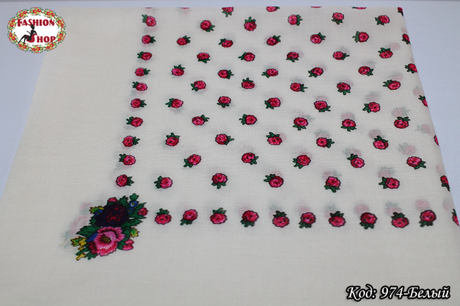 Украинский маленький  платок Розочка, фото 2