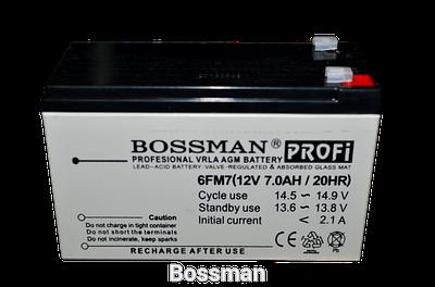 Аккумулятор Bossman 12v 7 Ah