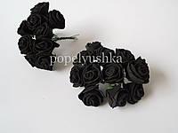 Троянди латексові чорні 1,5 см