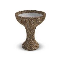 Вазон бетонный Чаша на высокой ножке  Арт Бетон галька