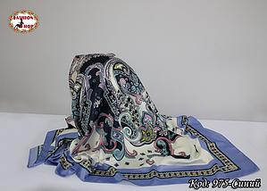 Платок синий  атласный Лейла, фото 2