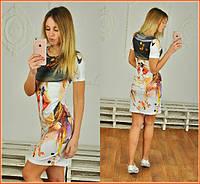 """Женское силуэтное платье """"WoW"""" LH-105"""