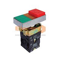 Кнопка  ВW8365 двойная з подсветкой (красная, зеленая)  NO + NC