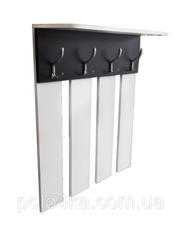Вешалка для одежды ДСП белая/черная