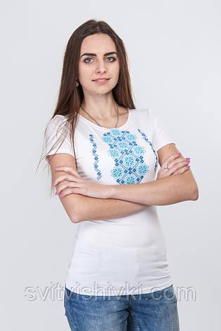 Женская вышитая футболка Орнамент , фото 2