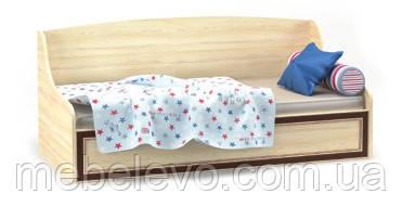 Кровать Дисней топчан 930х2050х990мм дуб светлый   Мебель-Сервис