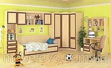 Кровать Дисней топчан 930х2050х990мм дуб светлый   Мебель-Сервис, фото 3
