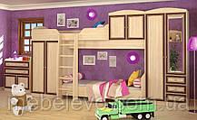Кровать Дисней топчан 930х2050х990мм дуб светлый   Мебель-Сервис, фото 2