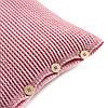 Подушка декоративная Ohaina на пуговицах вязаная 40х40  цвет розовая пудра
