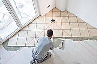 Укладка керамической плитки по диагонали
