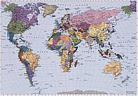 "Фотообои Komar ""Карта мира""  World Map 4-050"
