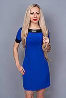 Молодежное платье с коротким рукавом размеры 44,46,48,50