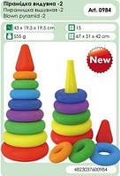 Детская развивающая игршка Пирамидка Технок 0984