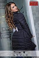 Пальто на синтепоне с бантиком на спине