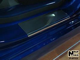 Накладки на пороги Premium Hyundai Accent IV/Solaris 2011-