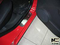 Накладки на пороги Premium Hyundai Getz 5D 2002-