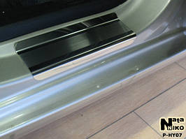 Накладки на пороги Premium Hyundai I10 2008-