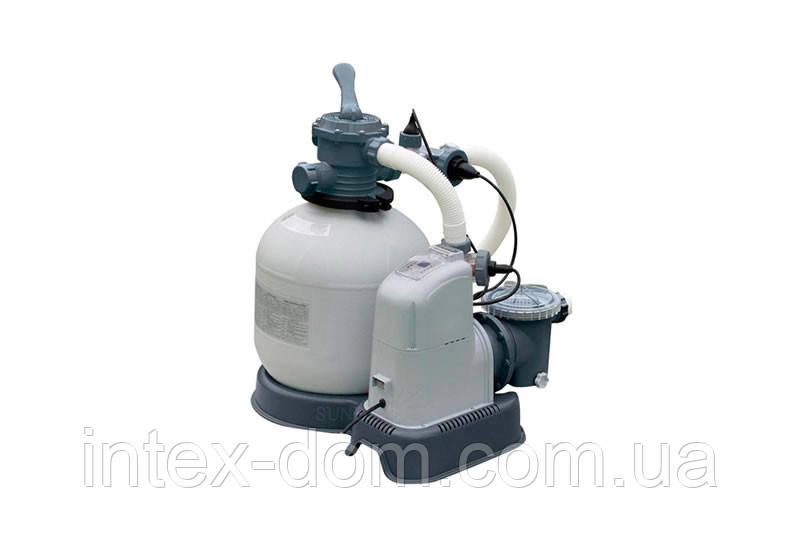 Песочный фильтр-хлорогенератор Intex Saltwater System 8300 л/ч 28682\28680