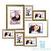 Фоторамка Алиса на 7 фотографий, антибликовое стекло (золотой)