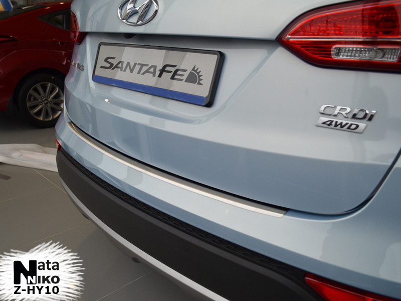 Накладки на пороги Premium Hyundai Santa Fe III 2013-