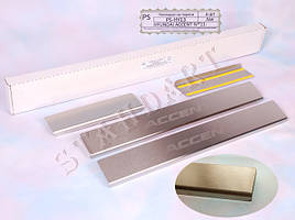 Накладки порогов Hyundai Accent IV/Solaris 2011-