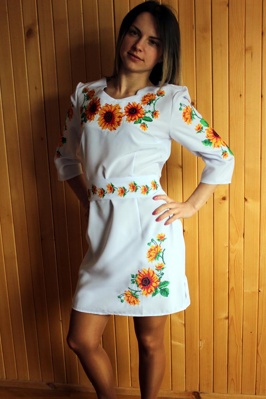Вышитое платье 011
