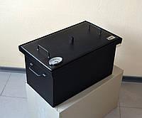 Коптильня для горячего копчения окрашенная (520х300х280) с термометром