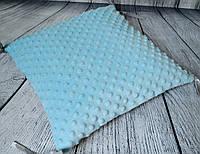 Элемент модульной охранки с плюшем minky голубого цвета.