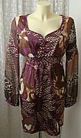Платье женское летнее легкое модное мини бренд St-Martins р.48-50 6291