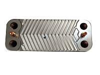 Для газовых котлов Запчасти  Теплообменник Immergas вторичный на горячую воду Mini 28 3 Е, Major Eolo 28 4E, Victrix 26 на 16 пластин