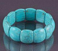 Целебный браслет Бяньши, браслет из голубого нефрита Бяньши, стильный бласлет из бирюзы Бяньши