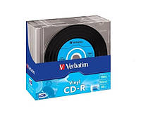 Диск VERBATIM CD-R 700Mb 52х Slim 10 pcs Vinyl 43426