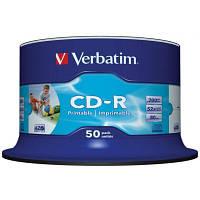Диск VERBATIM CD-R 700Mb 52x Cake 50 Extra 43351