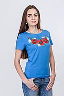 Стрейчевая женская футболка в этническом стиле