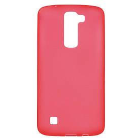 Чехол LG K7 X210DS силиконовый матовый, красный