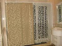 Оформление окна в ванной  - японские шторы