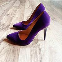 Сиреневые туфли лодочки 39 размер