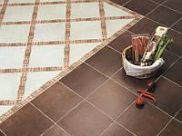 Укладка мозаичной плитки на пол коридора