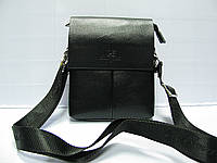 Сумка-планшетка мужская черная LANGSA