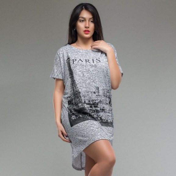 "Платье туника женская ""Париж"", Мода плюс"
