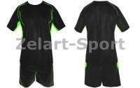 Форма футбольная без номера CO-3146-BKG (PL, р-р M-46-48, L-48-50, XL-50-52, черная, шорты черные)