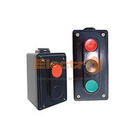 Пост кнопочный  ПК722-3 10A 230/400B  (1 красная, 2 черных)