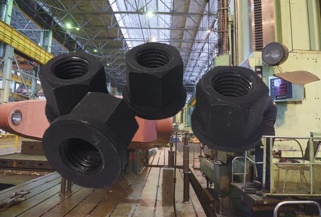 Гайки высокие с фланцем DIN 6331, ГОСТ 8918-69 | Фотографии принадлежат предприятию Крепсила