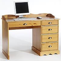 Стол письменный компьютерный из массива дерева 047