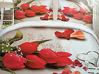 Постельное белье 5D Букет тюльпанов