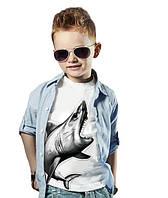 """Футболка для мальчика с голодным карманом """"BiBi Shark""""; 3, 4, 5, 6-7, 8-9, 10-11, 12-13 лет"""