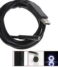 Технический эндоскоп,  Endoscope USB камера бороскоп, защищенная  - 2 метра., фото 2
